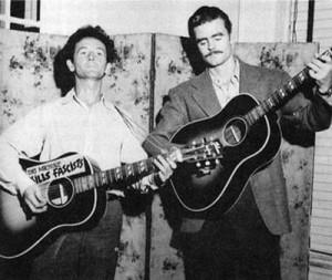 Woody Guthrie και Cisco Houston